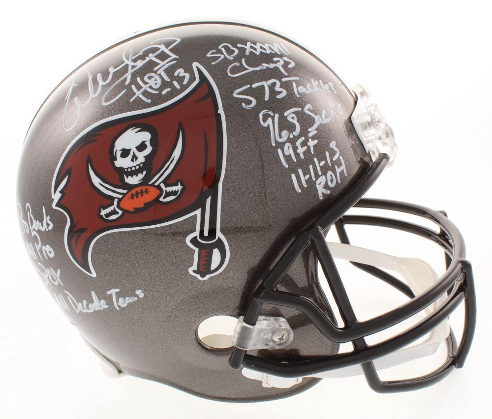 683454fc Warren Sapp Signed Tampa Bay Buccaneers Full-Size Helmet with ...