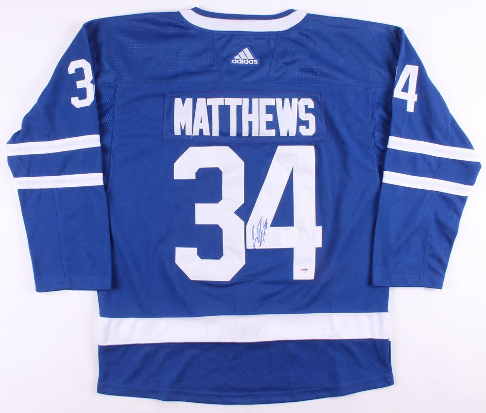 the best attitude 88731 f9527 Auston Matthews Signed Toronto Maple Leafs Jersey (PSA ...