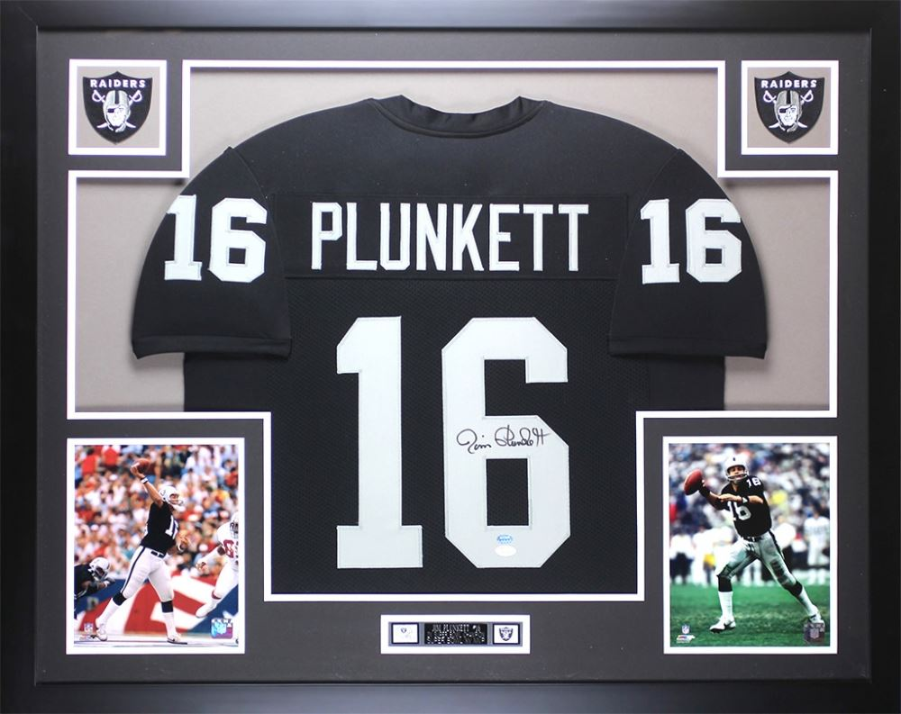 new styles bb7a2 aa9e3 Jim Plunkett Signed Oakland Raiders 35