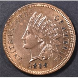 1869 INDIAN HEAD CENT, CH BU OLD CLEANING