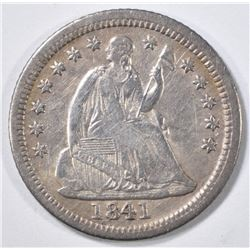 1841-O SEATED LIBERTY HALF DIME XF