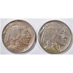 1913 T-1 & T-2 BUFFALO NICKELS AU