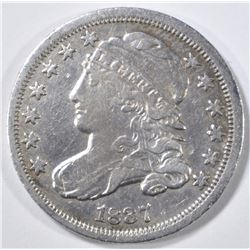 1837 BUST DIME XF