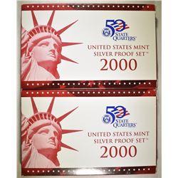 2-2000 U.S. SILVER PROOF SETS