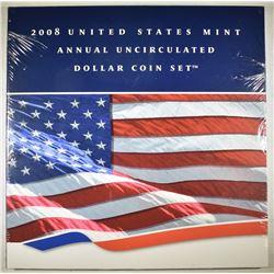 2008 U.S. MINT ANNUAL UNC DOLLAR COINS SET