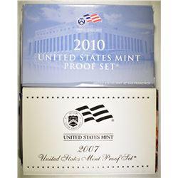 2007 & 2010 U.S. PROOF SETS