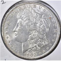 1902 MORGAN DOLLAR, CH BU