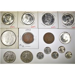 MIXED U.S. COIN LOT 15-coins