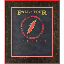 Grateful Dead Signed 1989 Tour Pelon