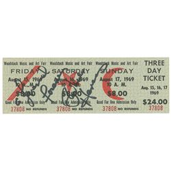Richie Havens Signed Woodstock Ticket