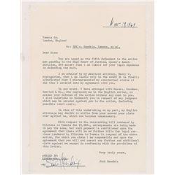 Jimi Hendrix 1969 Document Signed