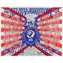 Jimi Hendrix 1970 Atlanta Music Festival Poster