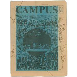 Janis Joplin Signed 1967 Campus Magazine