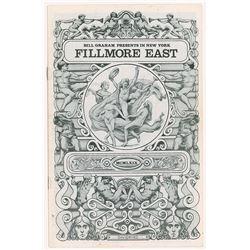 Woodstock: John Mayall Fillmore East Program