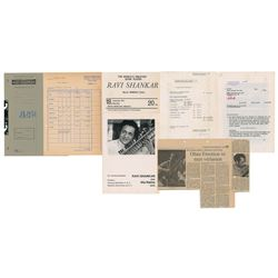 Ravi Shankar 1971 Munich Concert Material
