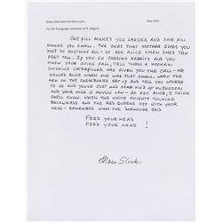 Grace Slick Handwritten Lyrics
