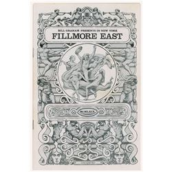 The Who Six Nights of 'Tommy' Fillmore East Program