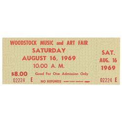 Woodstock Festival Ticket