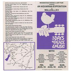 Woodstock 1969 Original Wallkill Ticket Order Form