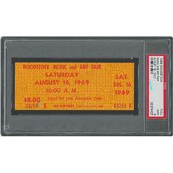 Woodstock Ticket - PSA MINT 9