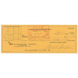 Max Yasgur Signed Check