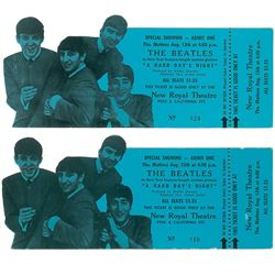 Beatles Pair of A Hard Day's Night Tickets