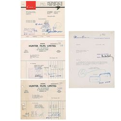 Beatles Set of (4) Signed 1967 Invoices