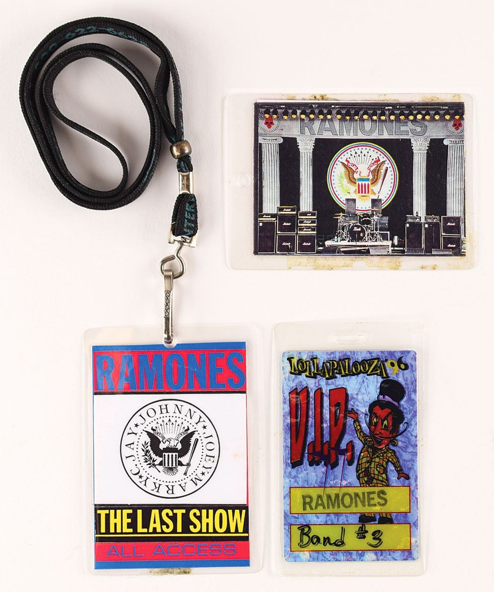 Ramones Group of (3) Backstage Passes