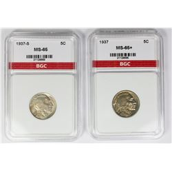 1937-S & 1937 BUFFALO NICKEL