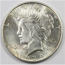 1934-D PEACE SILVER DOLLAR