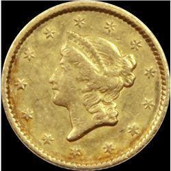 1851 $1.00 LIBERTY GOLD