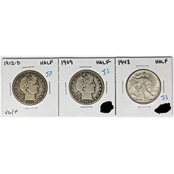 HALF DOLLAR LOT - 3 COINS TOTAL
