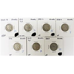 NICKEL LOT - SEVEN COINS TOTAL