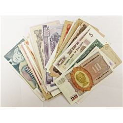 100 DIFFERENT PIECES OF FOREIGN CURRENCY!