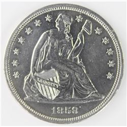 1859 SEATED DOLLAR
