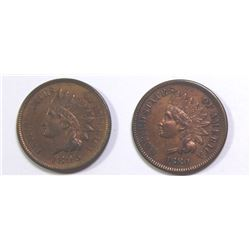 1880 AND 1895 INDIAN CENTS