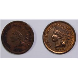 1881 & 1887 INDIAN CENTS