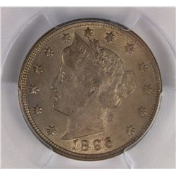 1896 LIBERTY NICKEL PCGS AU 58