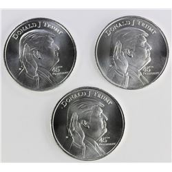 3--1 OZ DONALD TRUMP SILVER ROUNDS