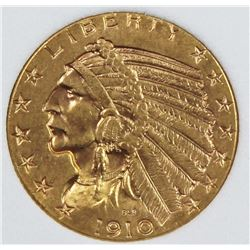 1910 $5.00 GOLD INDIAN