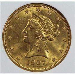 1907 $10.00 GOLD LIBERTY