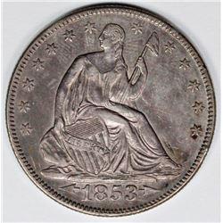 1853 ARROWS AND RAYS HALF DOLLAR
