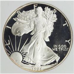 1986-S AMERICAN SILVER EAGLE