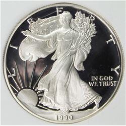 1990-S AMERICAN SILVER EAGLE