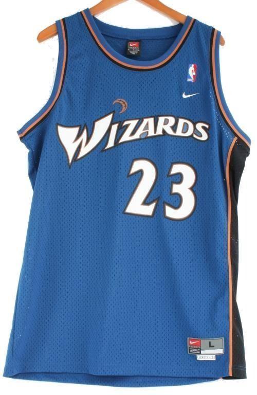 the latest 942c4 fd039 Autographed Michael Jordan, #23 Wizards Jersey