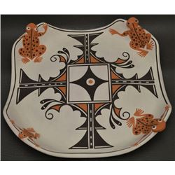 ZUNI INDIAN POTTERY PLAQUE ( EILEEN YATSATTIE)