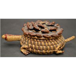 CHEROKEE INDIAN BASKETRY TURTLE