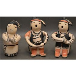 COCHITI POTTERY FIGURES (SNOWFLAKE FLOWER)