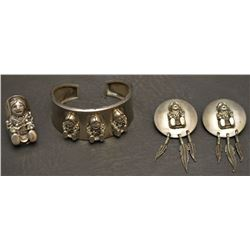 WESTERN STERLING SILVER SET (CAROL FELLEY)
