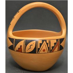 HOPI INDIAN POTTERY BASKET (RENEE SILAS)